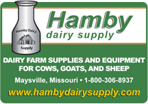 Hamby Dairy Supply: Dairy farm supplies and equipment for cows, goats, and sheep. Maysville, Missouri · 1-800-306-8937 · www.hambydairysupply.com